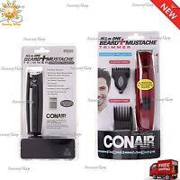 Conair Beard & Mustache Hair Shaver Clipper Trimmer For Men Stainless Corded