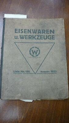 Altes Heft Eisenwaren Und Werkzeuge Von 1928 Wolffram Leipzig
