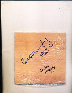 Calvin Murphy  Houston ROCKETS Authentic Signed Floorboard Tile 6 x 6