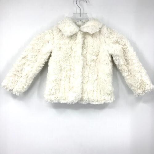 Joe Fresh Faux Fur Coat Jacket Toddler Girl Snap Front Collared Long Sleeve NWT