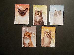 2015-Australia-Self-Adhesive-Post-Stamps-Cats-Good-Used-UK-Seller