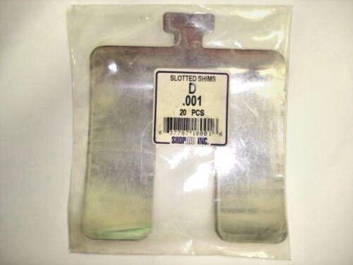 ShopAid 20//PKG Stainless Slotted Shims 5 x 5 x .001 NIB