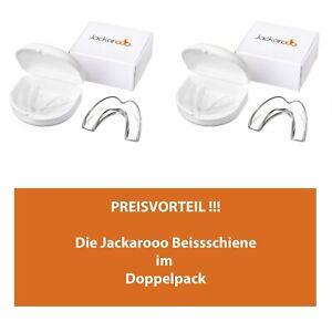 DOPPELPACK-Jackarooo-Deutschland-Aufbissschiene-Zaehneknirschen-Knirscherschiene