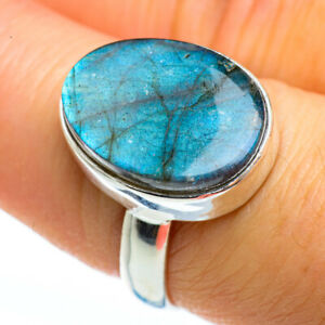 Labradorite-925-Sterling-Silver-Ring-Size-8-Ana-Co-Jewelry-R46091