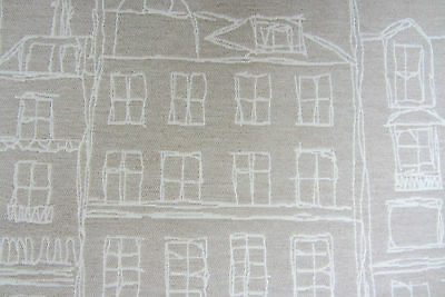 City Facades linen Jacquard  Curtain/Upholstery /Craft Fabric