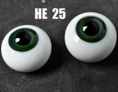 16mm Dark Blue Green Iris Glass Round BJD Eyes for MSD DOD DZ AOD Volks Dollfie