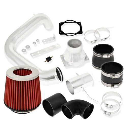 For 02-05 Lancer ES//LS//OZ Rally Cold Air Intake Polish Air Filter Red 2.0L MT