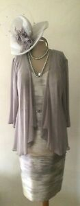 NEW-L-039-ATELIER-MOTHER-OF-THE-BRIDE-PALE-GREY-LUSTRE-DRESS-amp-CHIFFON-JACKET