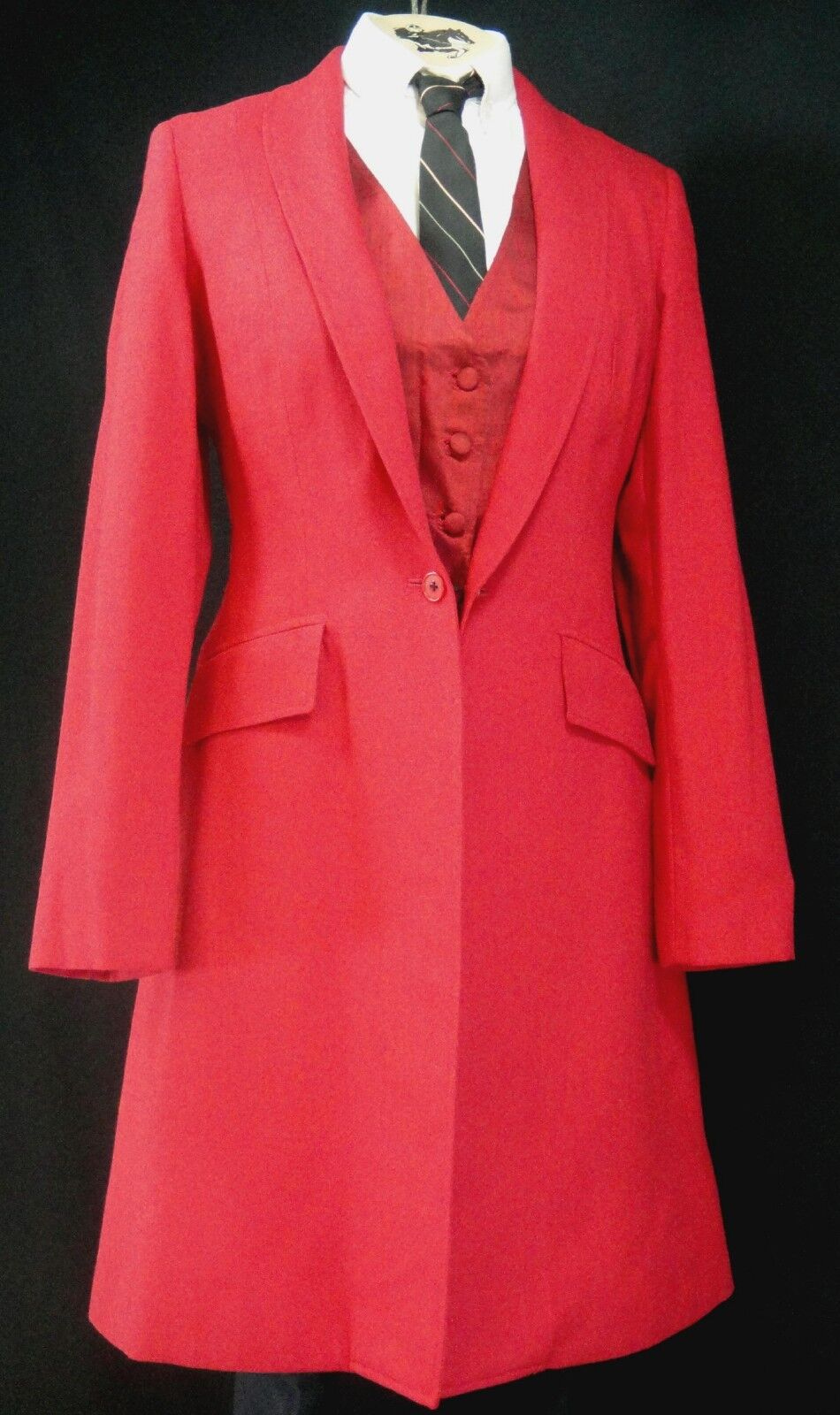 Reed Hill Ladies Saddleseat Day Coat  RED Linen Poly   Blend size 16 - USA  we offer various famous brand