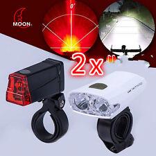 Set inkl. 2xLED Fahrradlicht vor-nach-Fahrradlampe USB-Ladekabel sofort von DE !