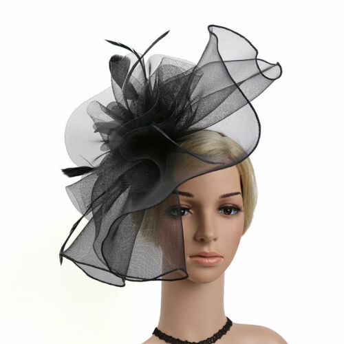 Women Fascinator Hat Derby Races Wedding Party Banquet Bridal Tiara Headwear
