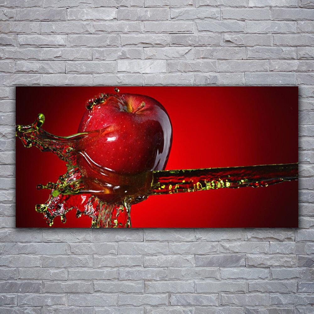 Photo sur toile Tableau Image Impression 120x60 Cuisine Pomme Eau