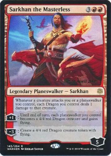 Sarkhan the Masterless 143//264 WAR Prerelease Foil Promo Near Mint MTG