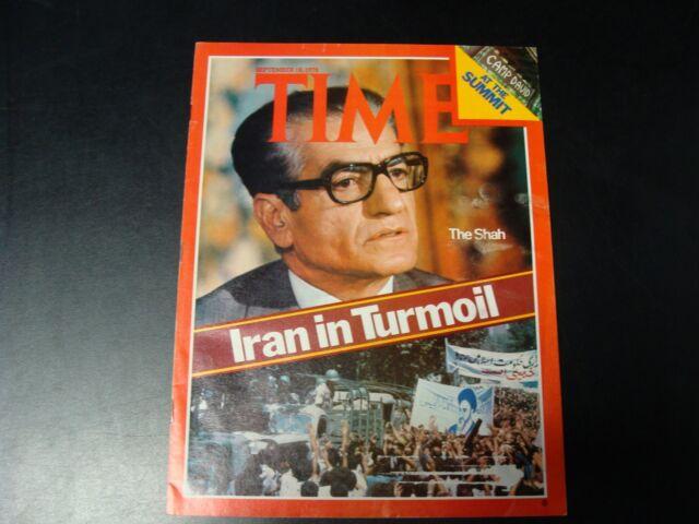 TIME magazine September 18 1978 (Iran in Turmoil)