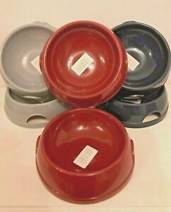 2-Bowls-0-77L-Pet-Dog-Food-Bowl-Water-Dish-Feeding-Animal-Plastic-Cat