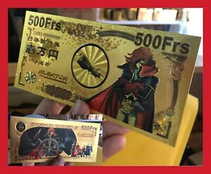 BILLET-TICKET-FIGURINE-ALBATOR-78-84-HARLOCK-MANGA-CARTE-COLLECTOR-GOLD-OR-CARD