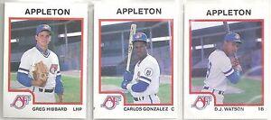 Kolekcje 1987 Pro Cards Appleton Foxes 30-card Minor League Team Set Greg Hibbard