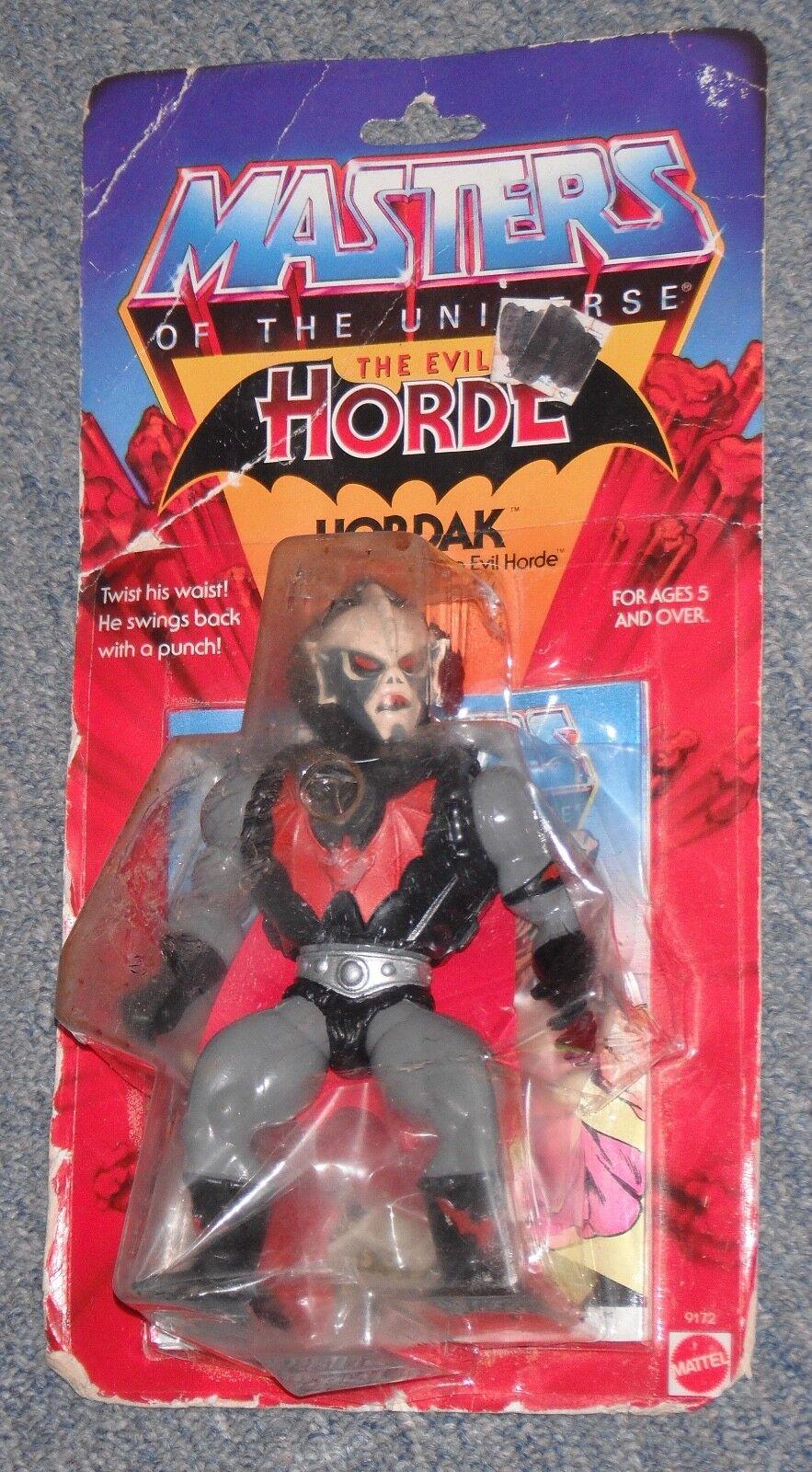 1980s Master del universo HORDAK, Original, Figura De Colección (nuevo)