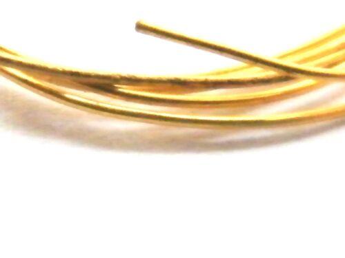 9ct Oro Amarillo Sólido Alambre Redondo-duro media 1.50mm X 100mm .375 de fabricación de joyas