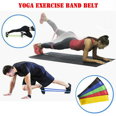 Details about  /5 PCS Resistance Band Set Yoga Pilate Tension Exercise Fitness Belt Workout Band