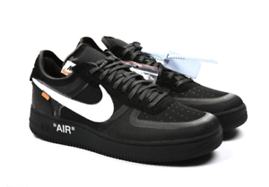 Details about Off White x Nike Air Force 1 Low BlackCone White Black AO4606 001 Virgil Abloh