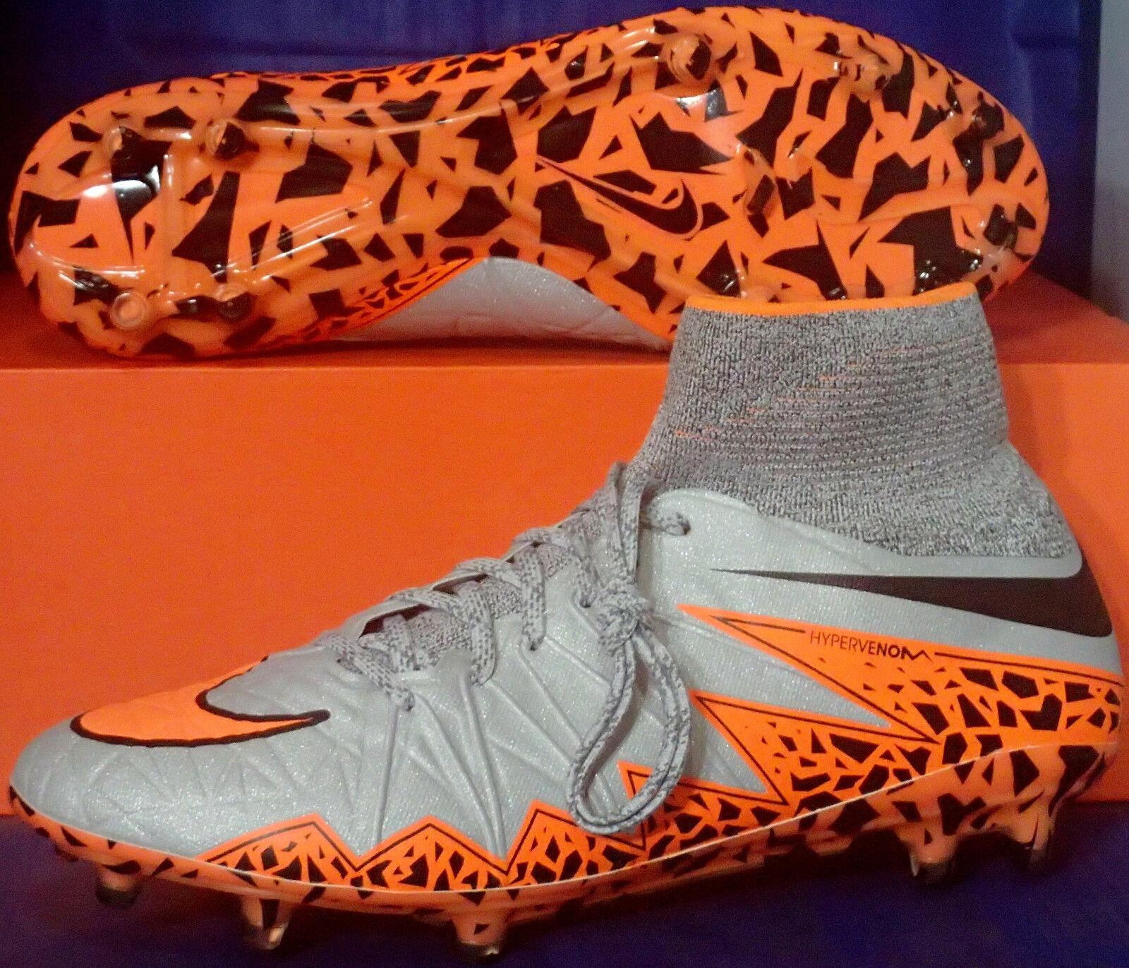 Nike Hypervenom Phantom II 2 FG Wolf US Gris Orange Bottes SZ US Wolf 13 e451da