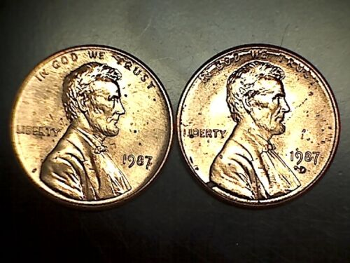 1987 PD Lincoln Memorial Cent Penny Set Brilliant Uncirculated From Rolls