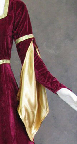 Luxury Medieval Gown for Women Queen Renfaire Costume Dress Game of Thrones