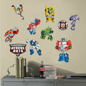 Transformer-Rescue-Bots-Wall-Sticker-Nursery-Boy-Vinyl-Decal-Decor-Art-Mural-DIY