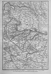 MAP OF WESTERN BULGARIA WITH SOFIA AND THE DANUBE TO THE AUSTRIAN FRONTIER MAP