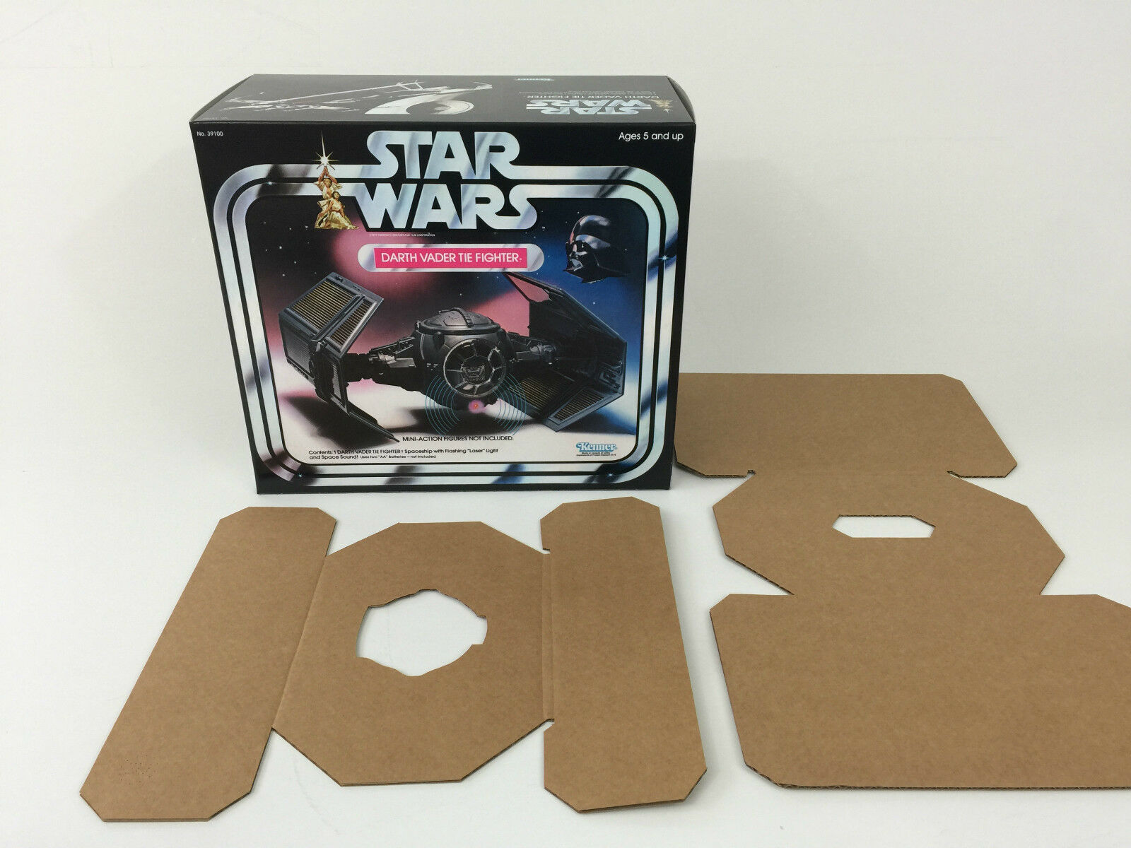 Replacement vintage star wars kenner darth vader tie fighter box + inserts