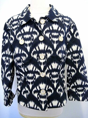 Navy Cotton Uk Designer Størrelse Carlisle 12 Hvid Us Jacket Blue Blend 10 O8txYw7