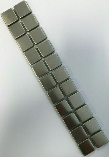 Bordüre aus Edelstahl gebürstet Mosaik Fliese Platte 5x30x0,8cm 2,3x2,3x0,8cm