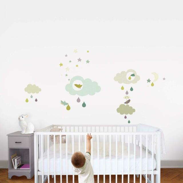 [Ref:170.001911.03] DRAEGER Sticker mural Nuage & Nature Multicolore