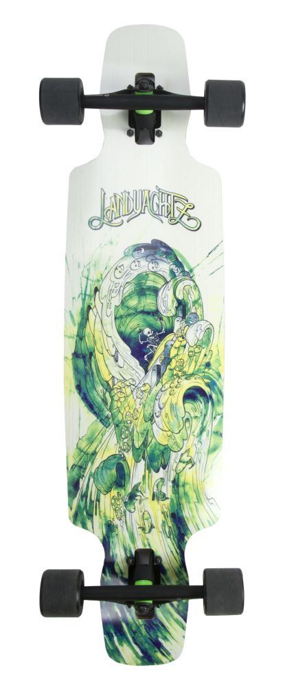 Landyachtz Drop Carve 37 Waves 2016 Longboard Completo