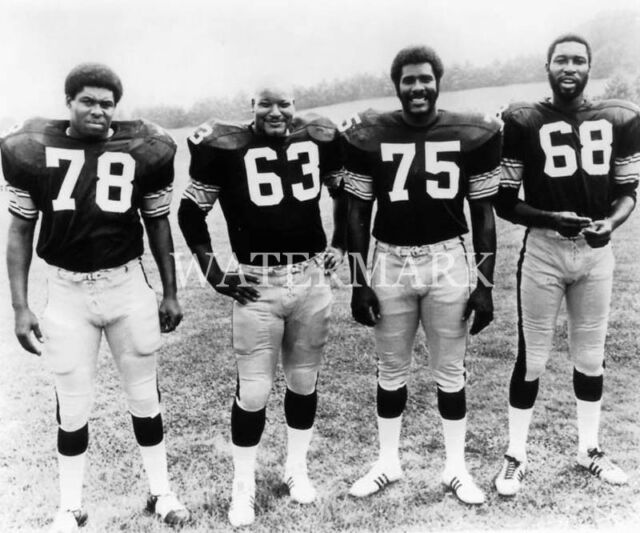 Pittsburgh Steelers The Steel Curtain With Mean Joe Greene 8x10 Press Photo