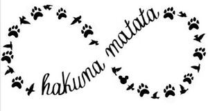 Disney Hakuna Matata Infinity Family Decal Car Window Sticker Wall - Family decal stickers for cars
