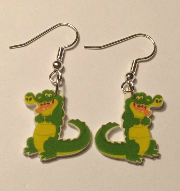 Alligator Earrings Crocodile Gator Charms