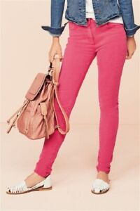 BNWT NEXT SZ 26 R SKINNY SOFT TOUCH PINK SUMMER HIGH RISE JEANS STRETCH NEW