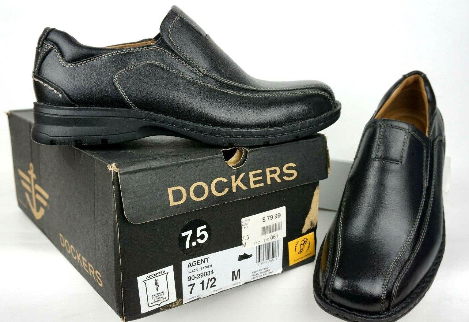 Homme Dockers Agent Slip-on Chaussures 90-29034 Cuir Noir Homme SZ 7.5 m US 40 eur