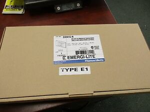 T&B Emergi-Lite Green Exit Sign DXN1G-N 120/277V Die-Cast Aluminum New Surplus