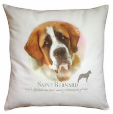 Saint Bernard Dog | 100% Cotton Cushion Cover and Zip | Howard Robinson | Gift