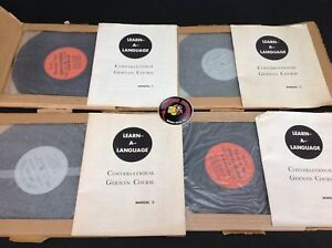 Learn-A-Language-Conversational-German-Set-of-4-10-034-Vinyl-Used-Piranha-Records