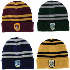 48305ccde39 Image is loading Harry-Potter-Hufflepuff-Gryffindor-Slytherin-Ravenclaw- Beanie-Hat-