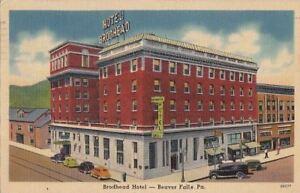 Image Is Loading Postcard Brodhead Hotel Beaver Falls Pa