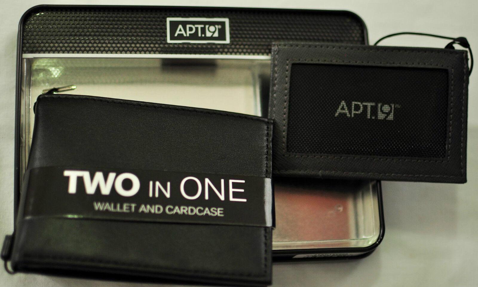 NWT mens Apt.9 wallet and cardcase black/gray 4
