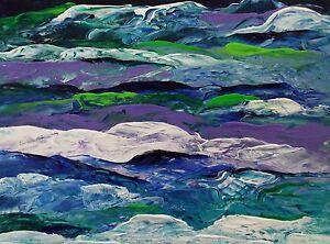RAINBOW-SEASCAPE-WINDOW-Original-Acrylic-Painting-9-034-x12-034-Julia-Garcia-OOAK-Art