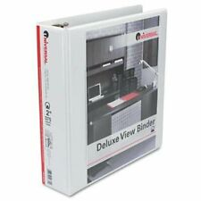 Universal Office Products 20732 Deluxe Round Ring Vinyl View Binder 2