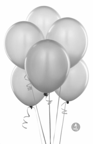 Balloon Shaped Baloon Plastic Weights Packs of 5,10 20 Silver or 50 baloon
