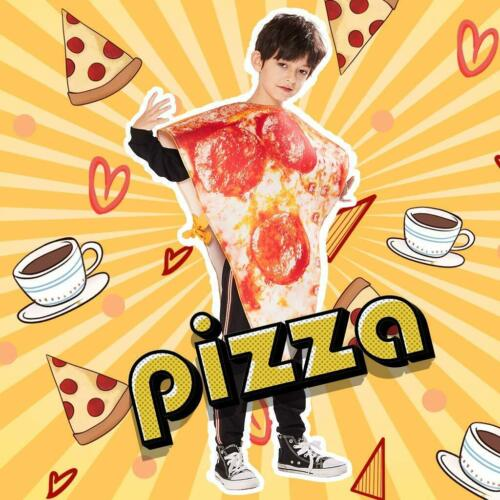 Kids Boys Girls Unisex Food Pizza Costume Fancy Dress Halloween Party Outfits